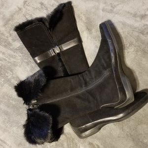 Enzo Angiolini suede and leather boot